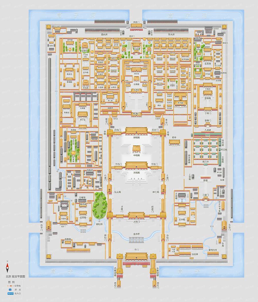 清代紫禁城平面图