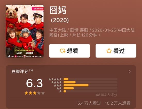 """《囧妈》豆瓣评分6.3 徐峥遭全国多院线联名""""抵制"""""""